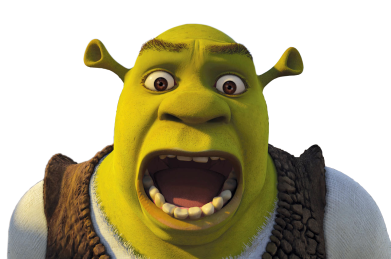 Shrek screaming