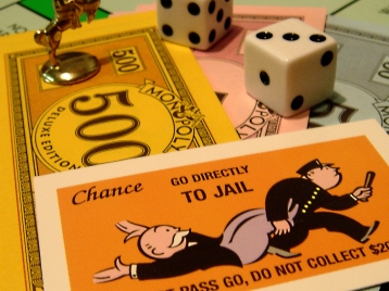 Go to Jail Monopoly card