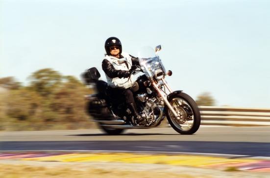 Old man on Harley Davidson