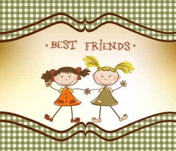 little girls - best friends